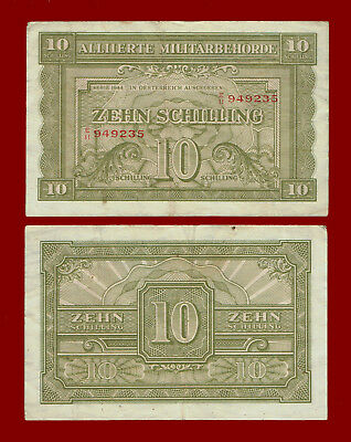 1944 Austria (Allied Military Currency) 10 Schilling Note 9235