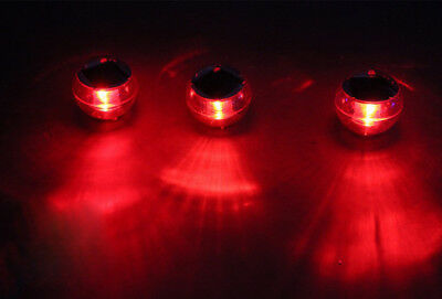 A10 LED Red Solar Waterproof Swimming Pool Fountain floating Underwater Light