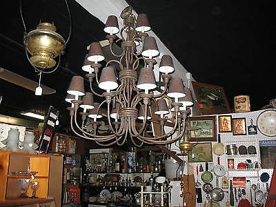 Large 1950 S Mid Century Modern Chandelier 21 Individual
