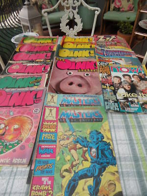 Job Lot Of 15 Oink/zit/thunderbirds/masters Of The Universe & Now Comics