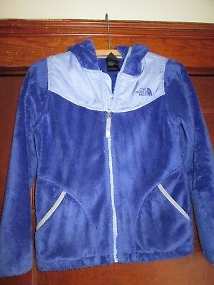 GIRLS FLEECE FULL ZIPPER HOODED BY The North Face SIZE  MED 10-12 VERY CLEAN