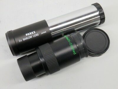 Orion Ultrascan 19mm and Parks 2x Barlow Lens Telescope Eyepieces - GRE