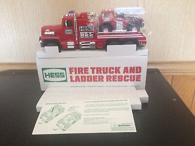 2015 Hess Toy Fire Truck And Ladder Rescue New