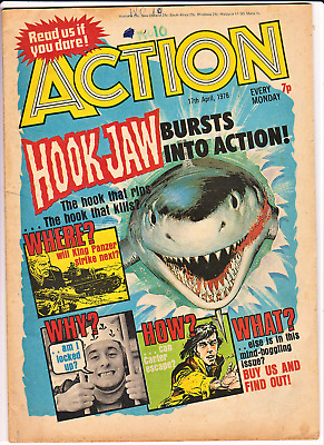 ACTION # 10 17th April 1976 comic pre-ban issue 7 penny nightmare IPC