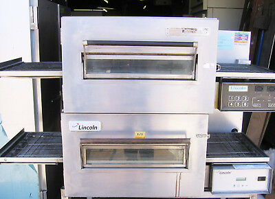 "Double Stack Electric Pizza Subs Conveyor Oven 18"" inch wide belt Two 1 Ovens"