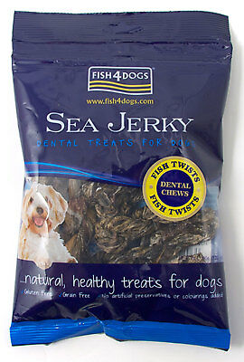 Fish4Dogs Gluten Free Dog Treats - Sea Jerky Fish Twists 100g - 5 Pack Deal