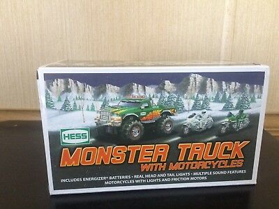 2007 Hess Toy Monster Truck W/motorcycles Not Removed