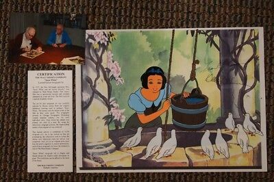 "S/O Disney ""Snow White at the Well"" Cel Art Hand-Signed Thomas Johnston UF"
