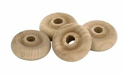 Milescraft 5326 Wooden Toy Wheels, 1-Inch, 4-Count