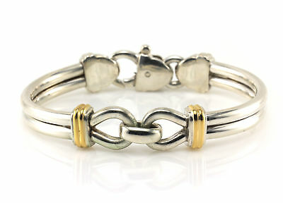 14K Tiffany & Co. Bracelet Yellow Gold Sterling Silver Double Wire