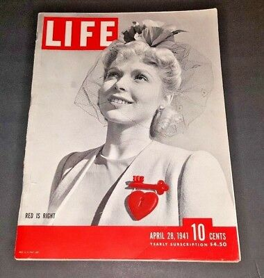 April 28, 1941 LIFE Magazine Historical 40s Advertising FREE SHIPPING 4 26 27 29