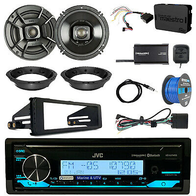"KDR99MBS CD Radio + Accessories, 6.5"" Speakers + Install Parts, SiriusXM Tuner"