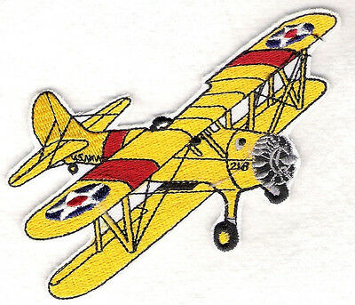 STEARMAN Airplane Aircraft Aviation Collectable Military Patch Navy Colors
