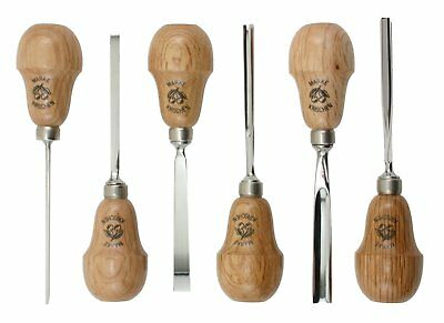 Two Cherries 511-0050 6-Piece Pear-Handled Wood Carving Set