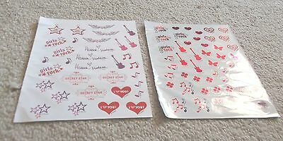 HANNAH MONTANA STICKERS by Disney 2 Sheets 75 + Stickers NEW