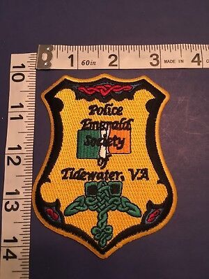Tidewater  Virginia Police Emerald Society  Shoulder Patch