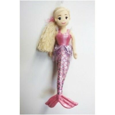 Cotton Candy Mermaid Called Ruby Blonde Hair With Ribbon Pink  Bodice  45Cm Bnip