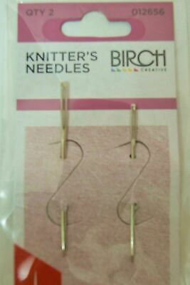 BIRCH KNITTERS NEEDLES Set of 2 - Use for 2 ply to DK