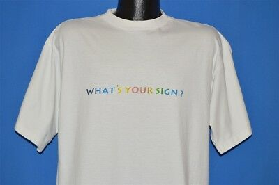 vintage 90s HOOTIE AND THE BLOWFISH WHAT'S YOUR SIGN WHITE COTTON t-shirt XL