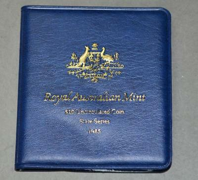Australia 1985 10 Dollars Uncirculated Silver Coin - State of Victoria 150th