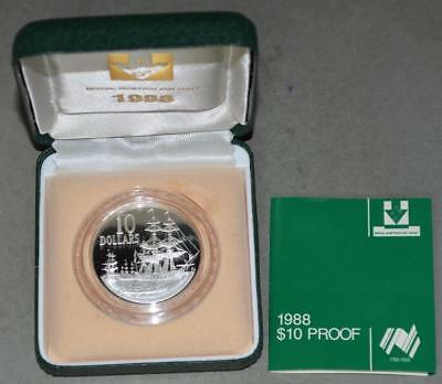 Australia 1988 10 Dollars Proof Silver Coin - Landing of Governor Phillip
