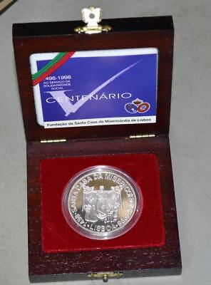 Portugal 1998 1000 Escudos Proof Silver Coin - Misericordia Church 500th