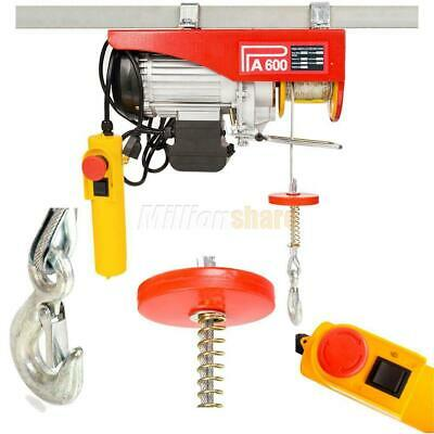 NEW Mini Electric Wire Cable Hoist Winch Crane Lift Overhead + Remote Control US