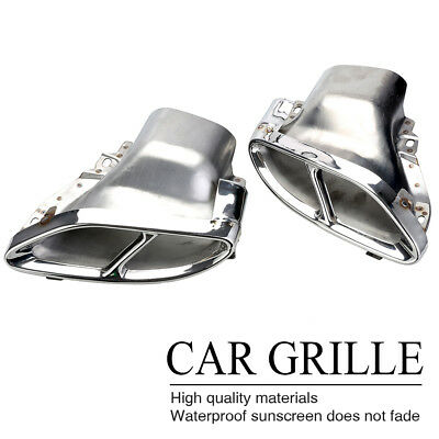 Dual-hole Double Exhaust Pipes Muffler CASE For Mercedes Benz E-Class W212 14-16