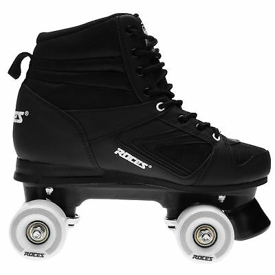 Roces Mens Kolossal Quad Skates Lace Up Padded Ankle Collar Front Brake