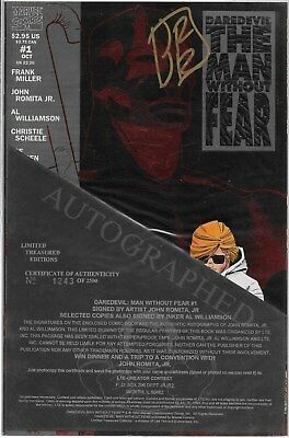 Daredevil The Man without Fear No.1 Signed by John Romita Jr. with Certificate