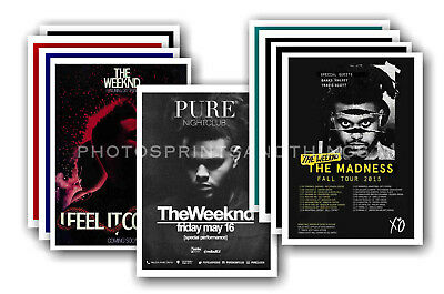THE WEEKND - 10 promotional posters - collectable postcard set # 2