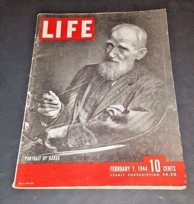February 7, 1944 LIFE Magazine WWII ads + FREE SHIPPING Feb. 2 40s 5 6 8 9 10 11