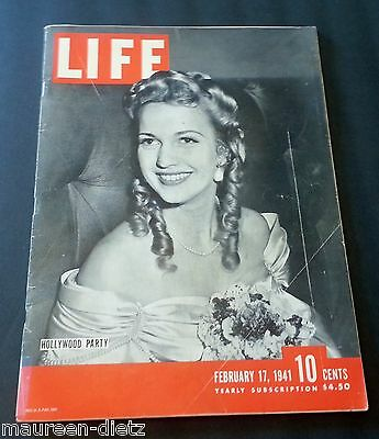 February 17, 1941 LIFE Magazine Old Coke ad 40s advertising FREE SHIPPING Feb. 2