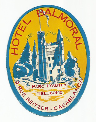 HOTEL BALMORAL luggage MAROC label (CASABLANCA)
