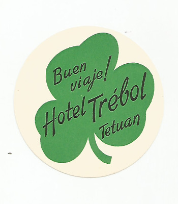 HOTEL TREBOL luggage label (TETUAN)