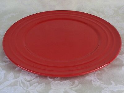 RACHAEL RAY Double Ridge Red SET OF 3 Dinner Plates - $19.99 | PicClick