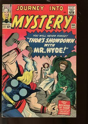 Journey Into Mystery #100 Very Good- Thor / Mr. Hyde 1964 Marvel Comics