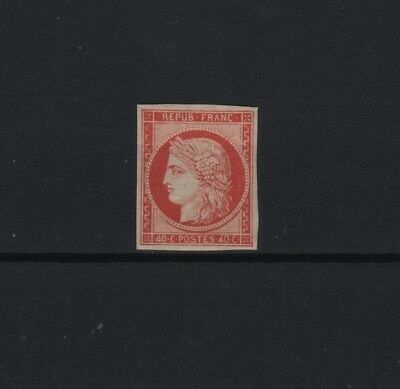 """FRANCE  STAMP TIMBRE N° 5 a """" CERES 40c ORANGE VIF 1850 """" NEUF x TB SIGNE  R874"""