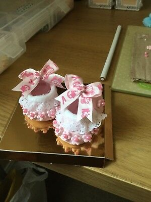 Polymer Clay Baby Shoe Present or cake topper
