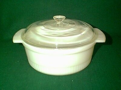 NICE 1950's VINTAGE FIREKING ANCHOR HOCKING 1 QT CASSEROLE DISH WITH LID # 1436