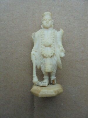 Bovine Bone Hand Carved  Oriental Man Possibly Chinese 45 Mm Tall