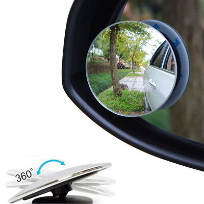 2 Pcs Car Rearview Blind Spot Side Rear View Mirror Safety Lens
