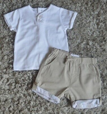Burberry Baby Boy/Girl Designer Summer Outfit 9 Months Excellent T-shirt Shorts