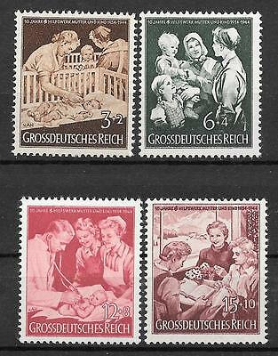 """Germany Third Reich Mi# 869-872 MNH 10th Anniversary of """"Mother & Child"""" 1944 **"""