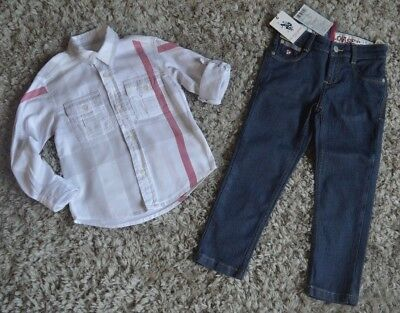 Burberry Polo ASSN Boys Designer Clothes Bundle Shirt New Jeans 3-4 Years