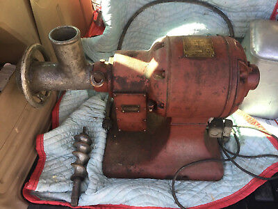 Vintage Antique Hobart Meat Grinder Butchering Equipment