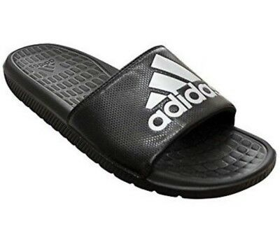 314d78f1ef4d12 ... coupon adidas black silver performance voloomix slides flip flops 12 men  freeship e6a2b e842a