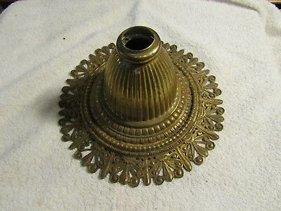 Antique Victorian Art Deco Brass Decorative Ornate Ceiling Light Fixture Plate