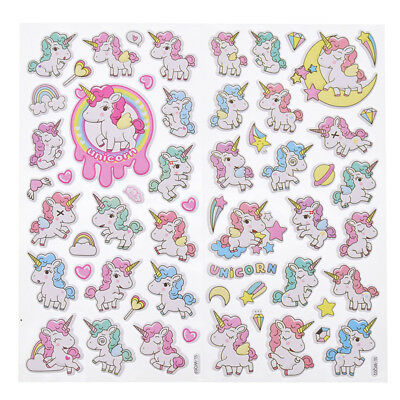 Unicorn 3D Stickers Scrapbooking Diary Stationery Decoration Craft Random Color