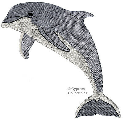 DOLPHIN PATCH iron-on BOTTLENOSE PORPOISE embroidered FLIPPER applique OCEAN new